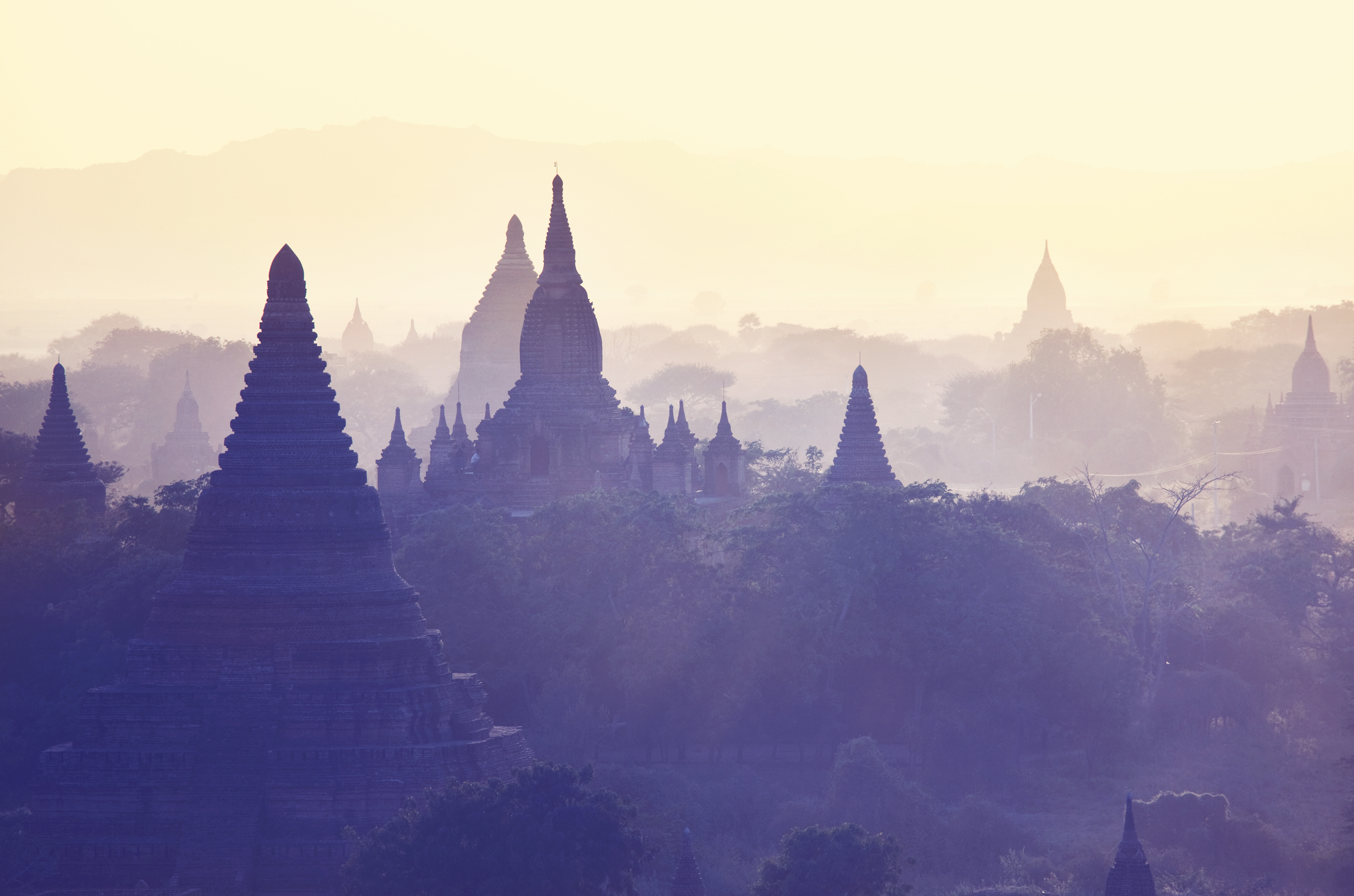 Dusk at the Bagan Temples