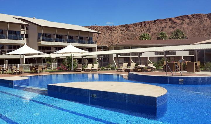 The pool at Lasseters, Alice Springs, Australia