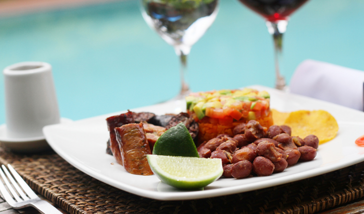A dish of mouth watering Colombia Cuisine