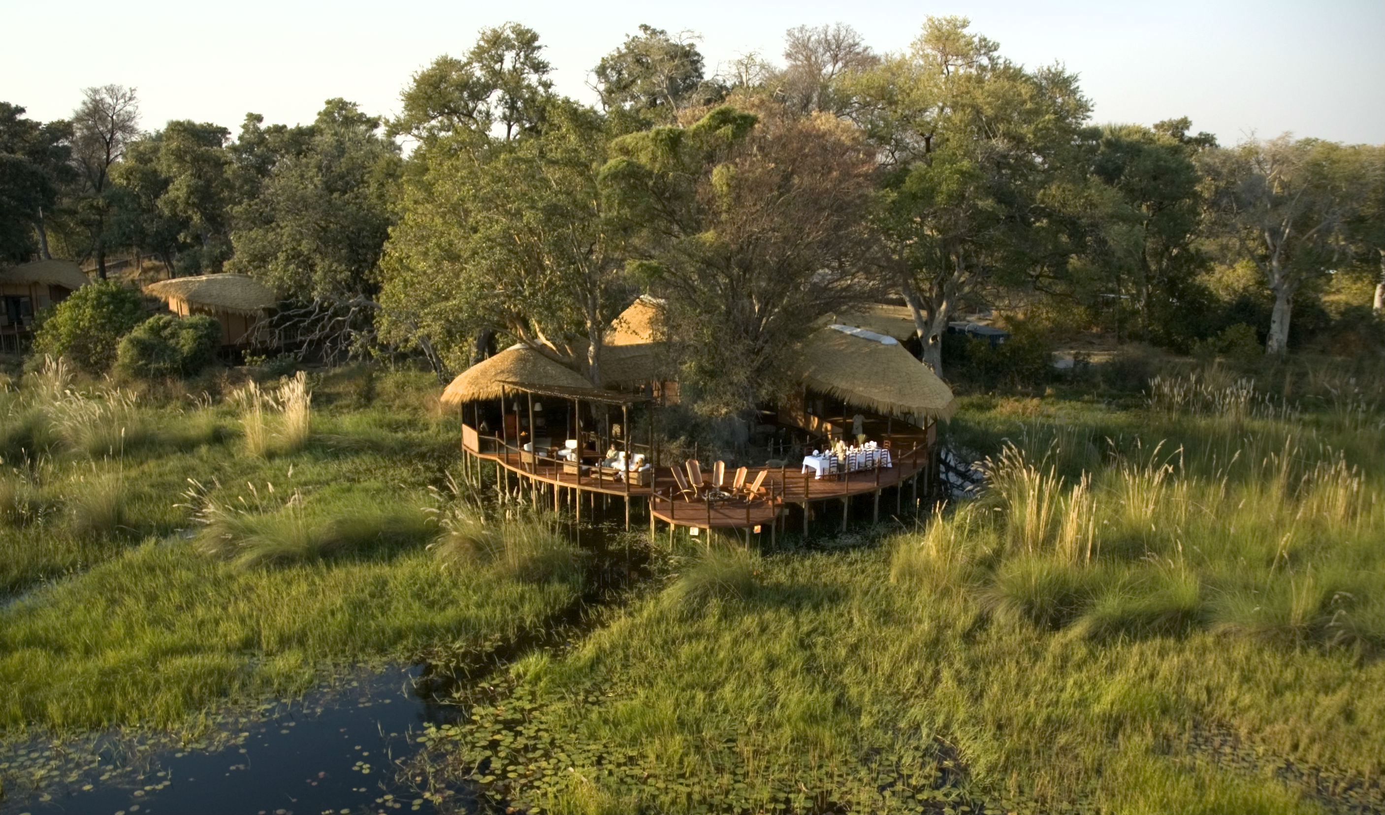 Luxury camp Botswana