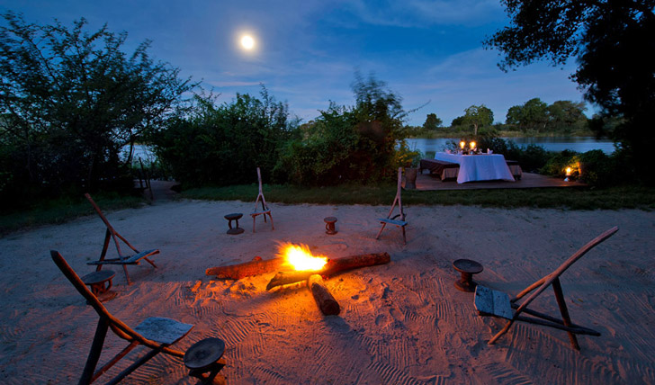 Enjoy a private boma dinner