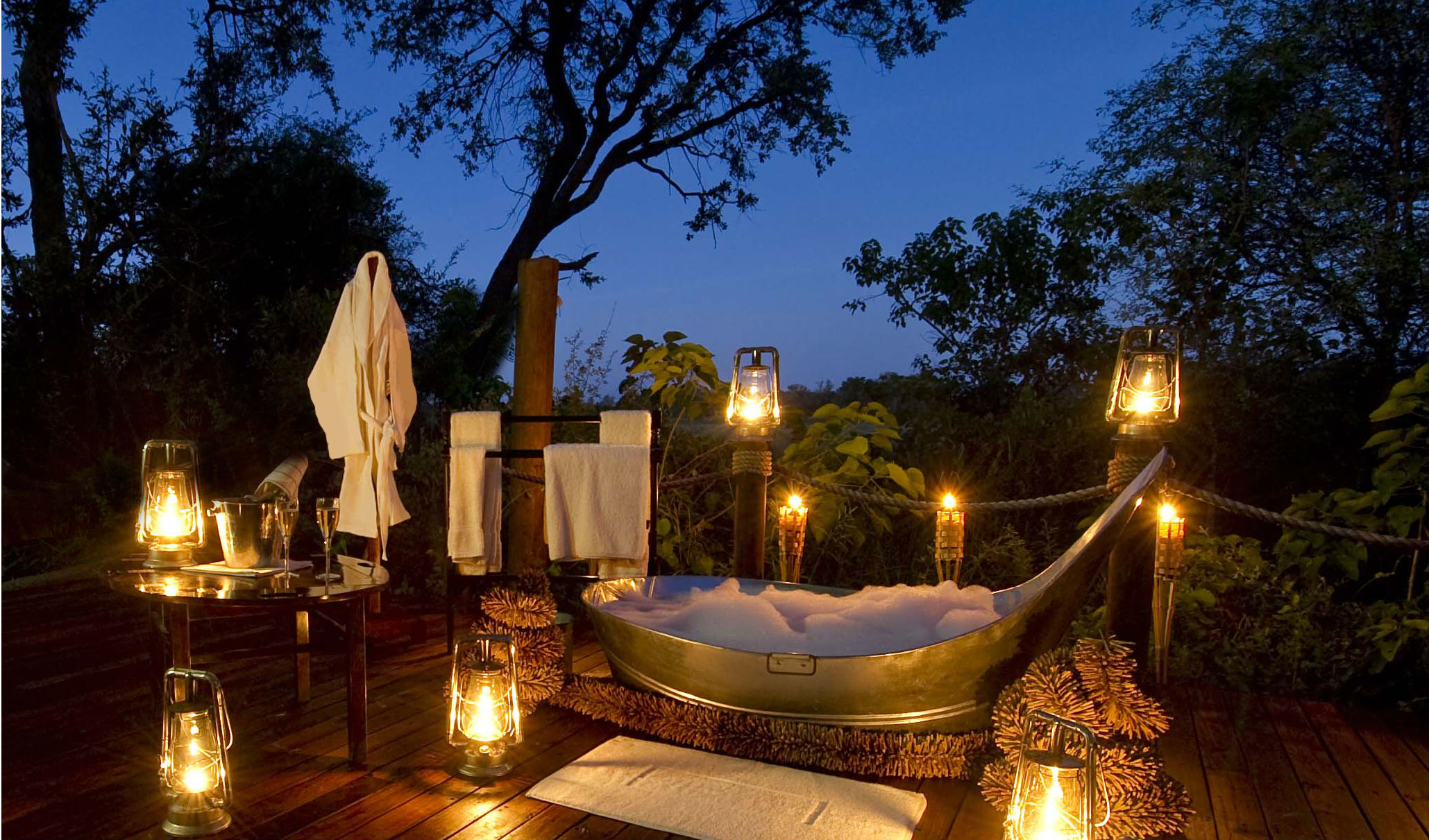 Luxury camp in Botswana