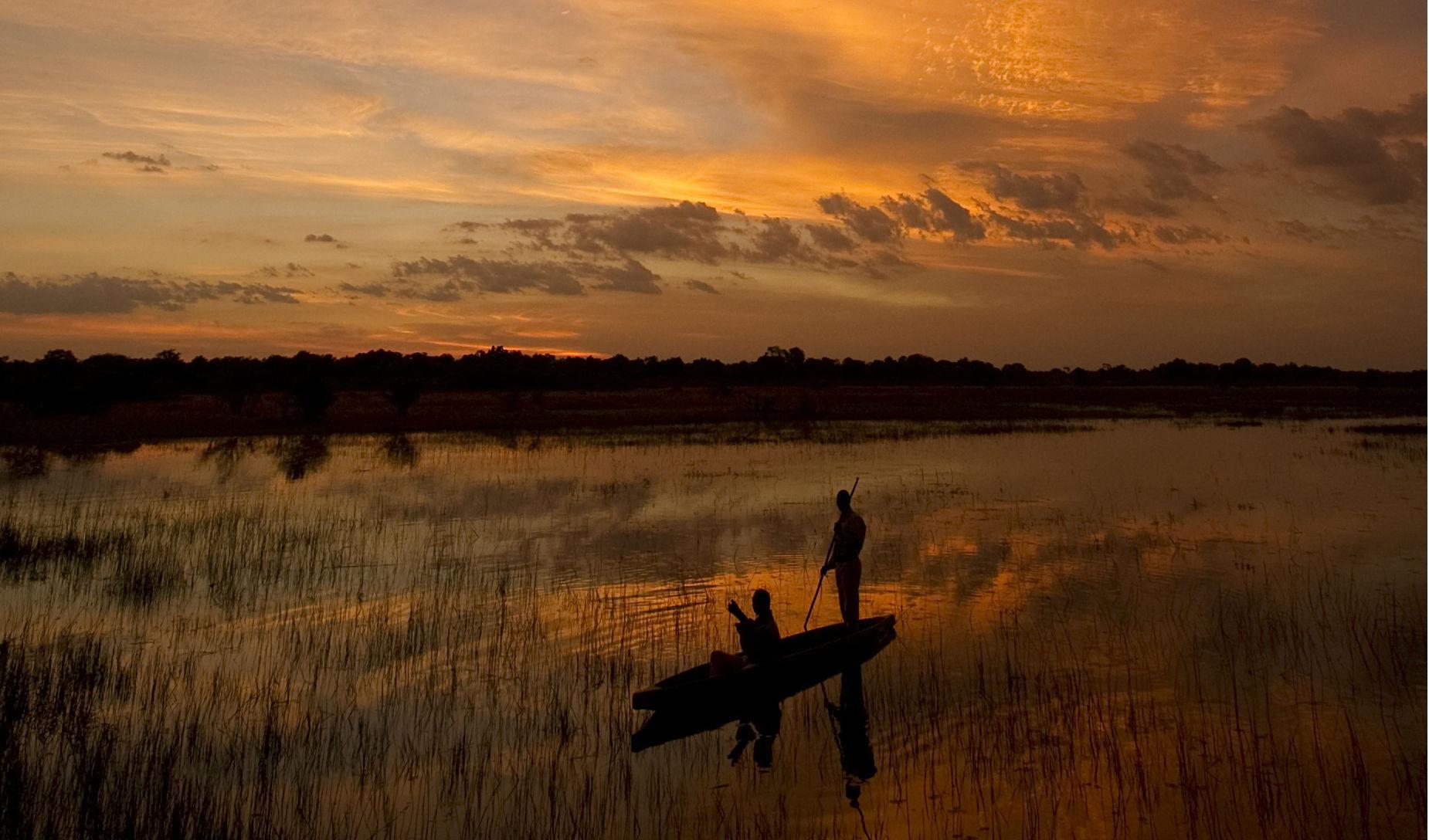 Luxury camp in Botswana