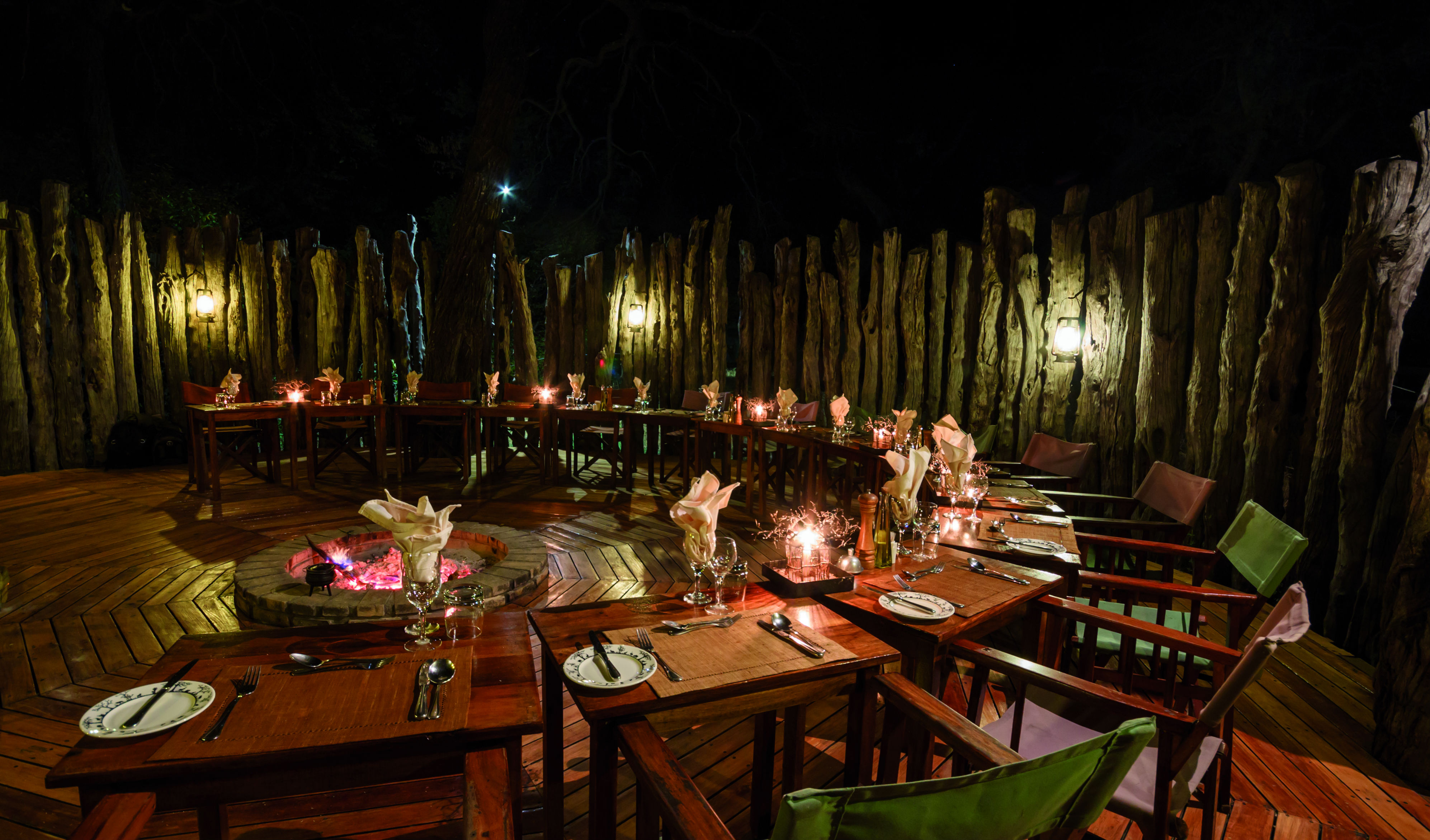 Dine under the stars on the Boma