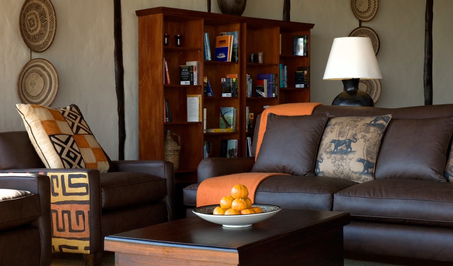 Traditional African furniture in the lounge