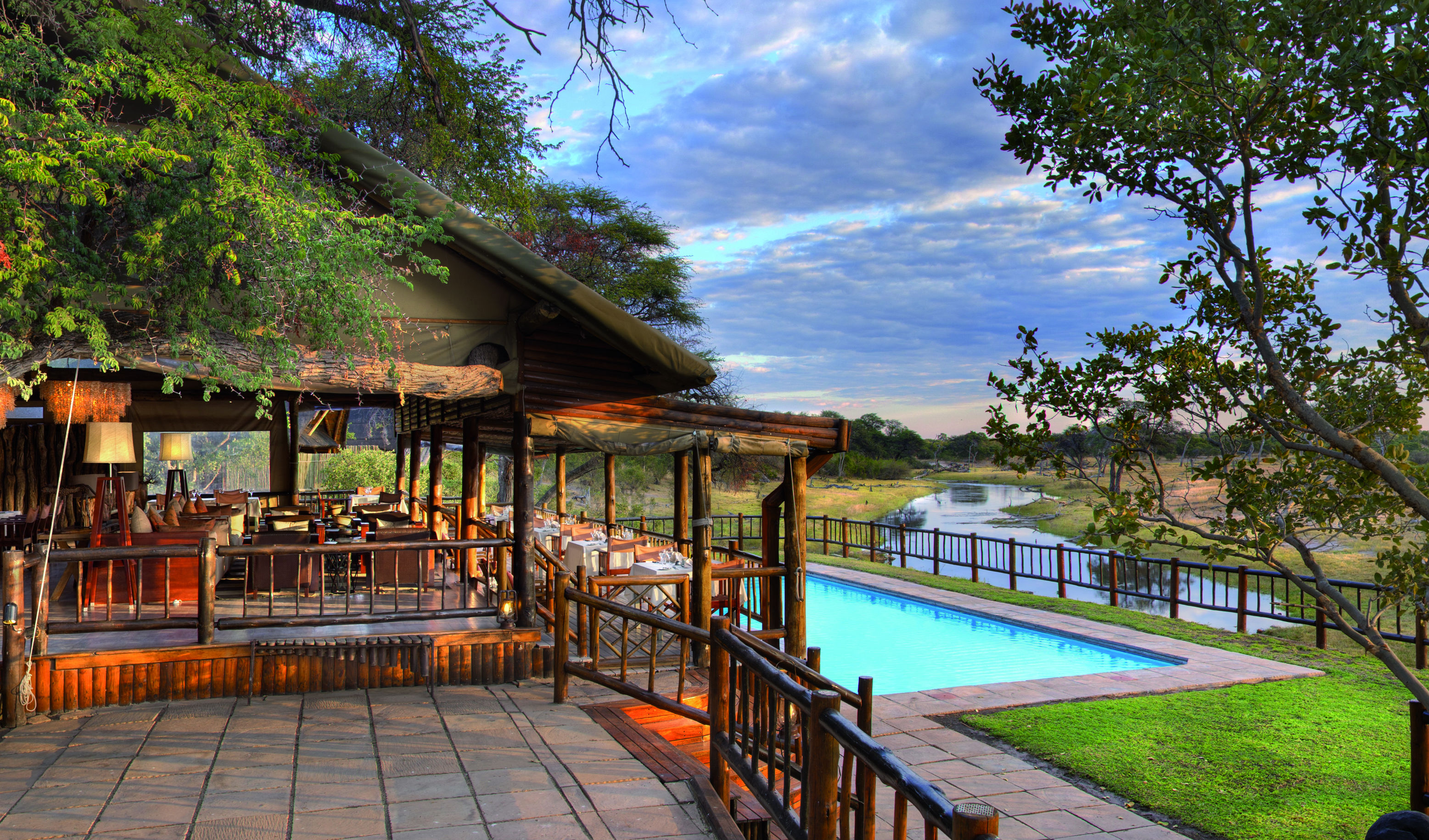 The ultimate poolside view at Savute Elephant Lodge