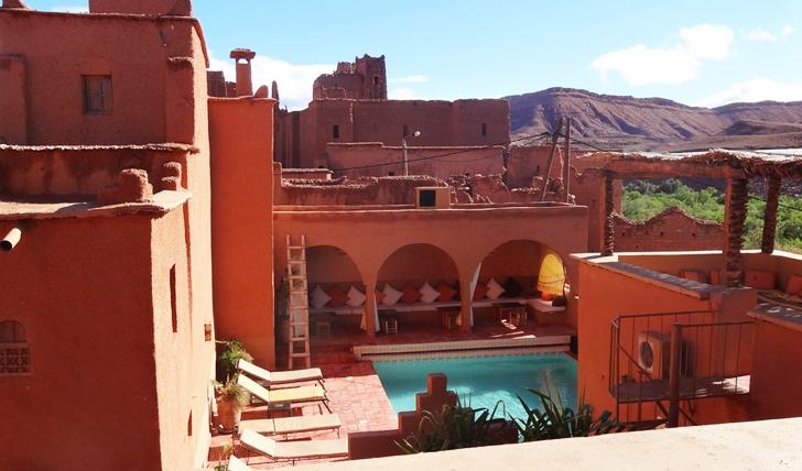 The pool at Kasbah Ellouze