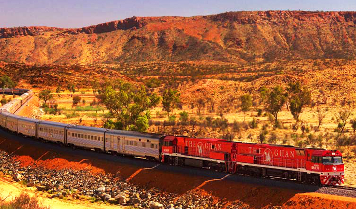 Take the Ghan Train through the heart of the Northern Territory