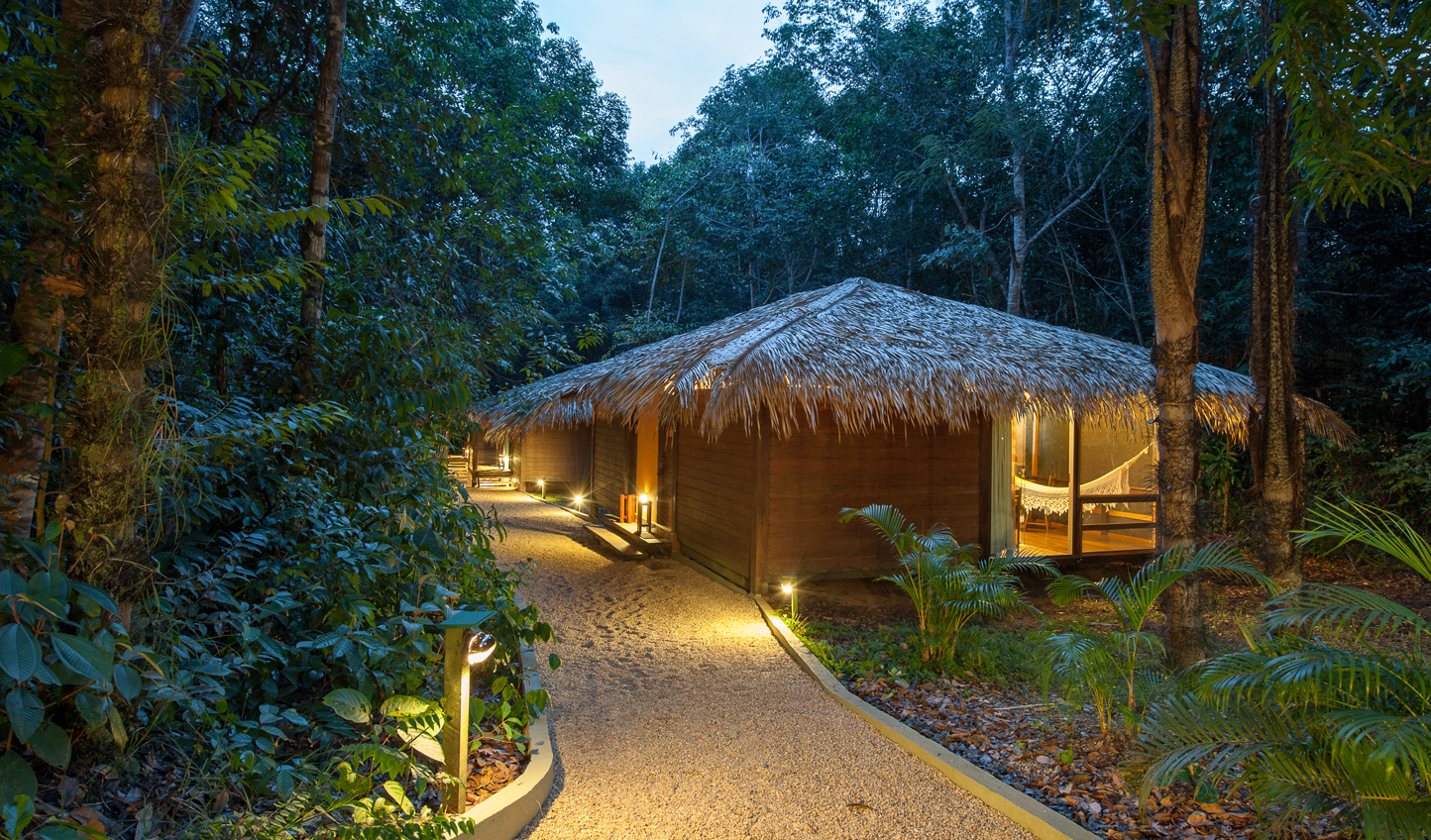 Make your way to your bungalow in the middle of the jungle