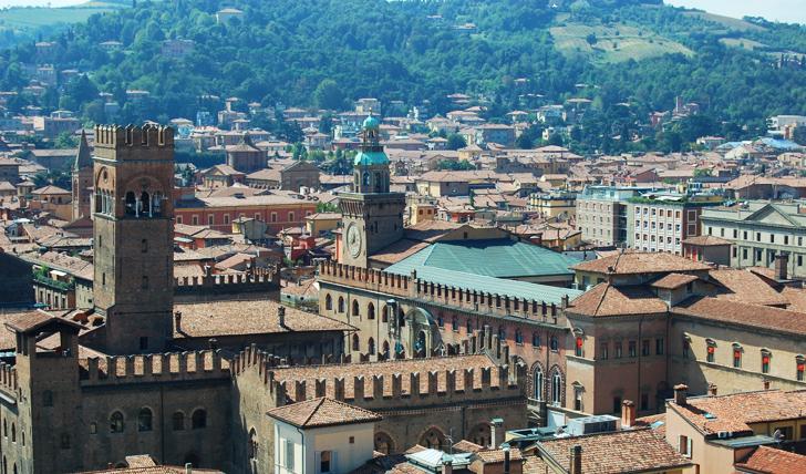 Bologna cityscape, Italy