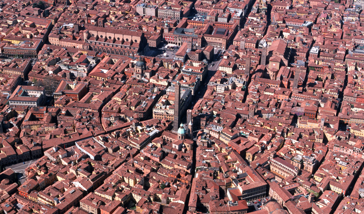 Central Bologna rooftops, Italy