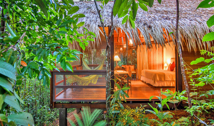 Hole up in your jungle bungalow
