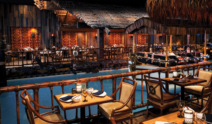 The famous Hurricane Bar in the Tonga Room