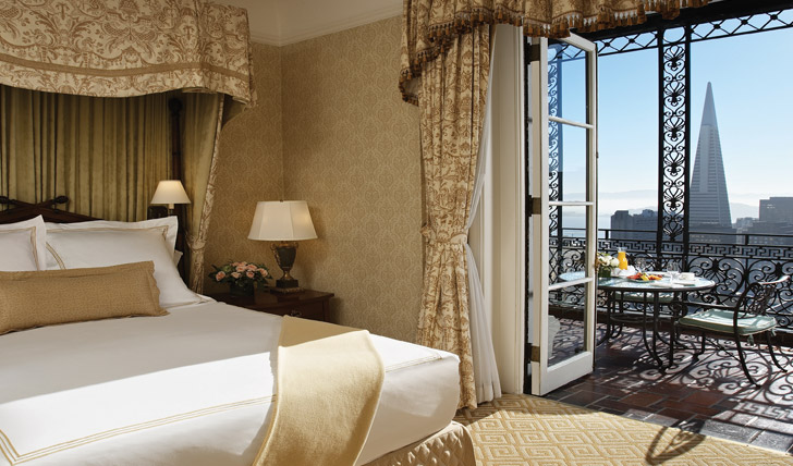 City views at Fairmont San Francisco