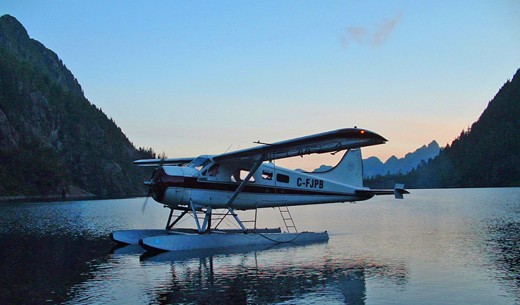 Take a sea-plane ride over the island