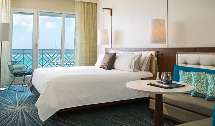 Beautifully designed bedrooms at The Renaissance, Aruba