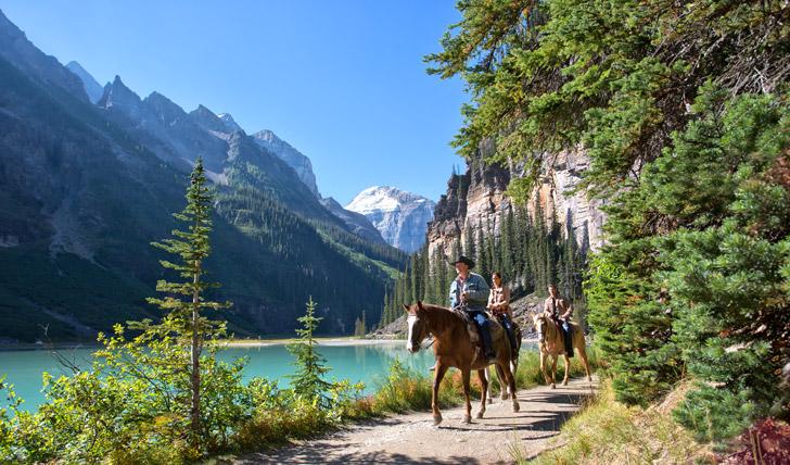 Saddle up in Lake Louise