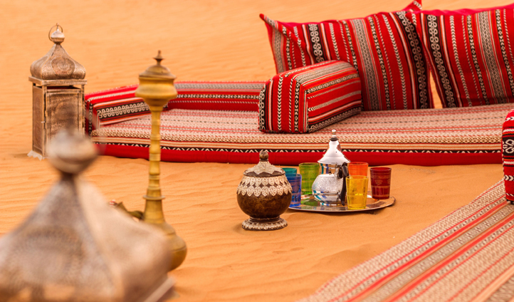 Relax on a lounger in the desert