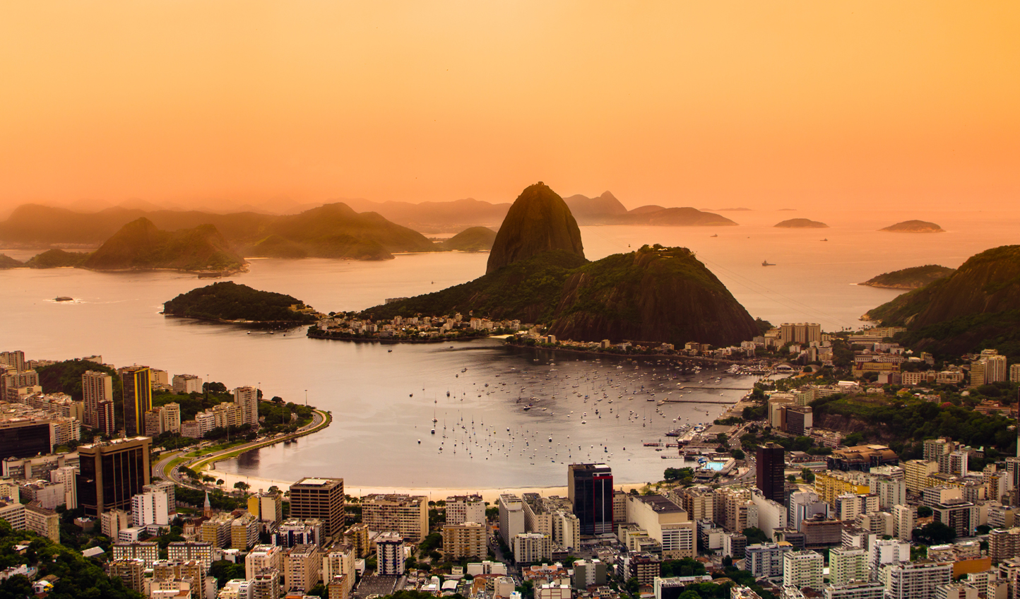 Watch the sunset over Rio