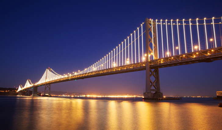 The lights on Bay Bridge - San Francisco