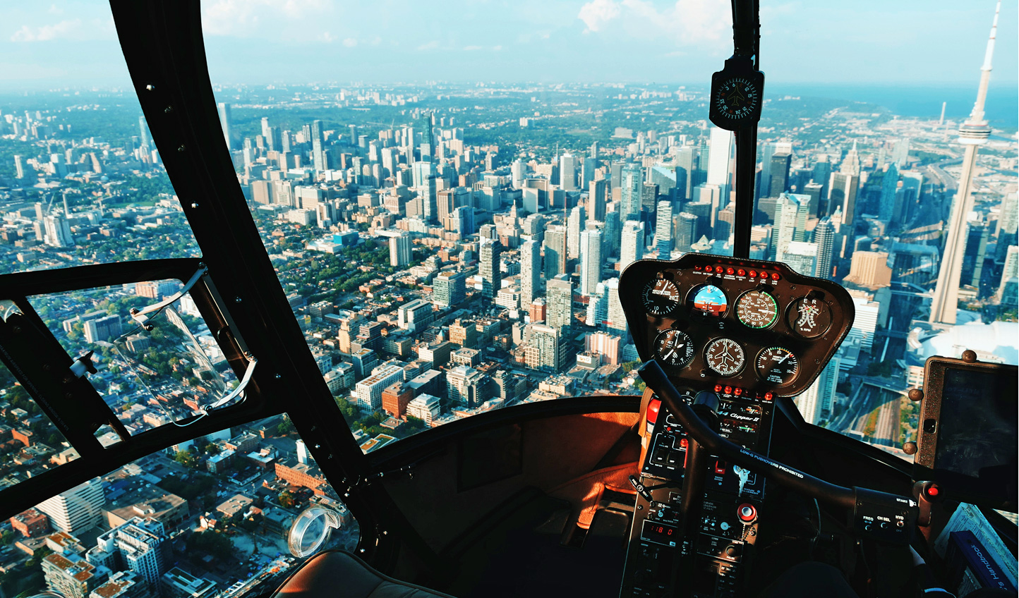 Gain an aerial perspective of Toronto on a private helicopter tour