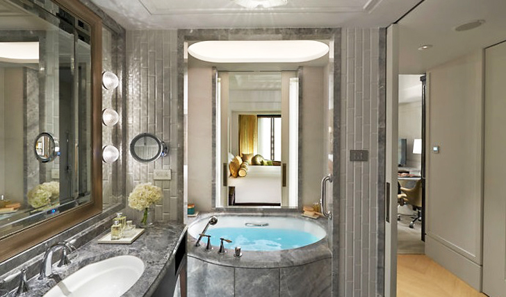 A vast and stunning bathroom