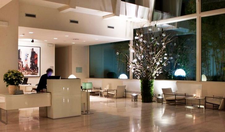 The lobby at I Portici, Italy