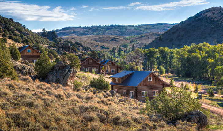 The Brush creek ranch landscape