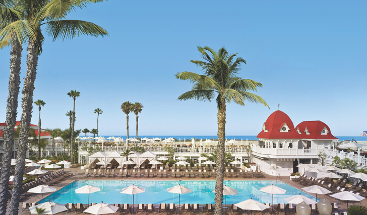 The pool at Hotel Del Coronado