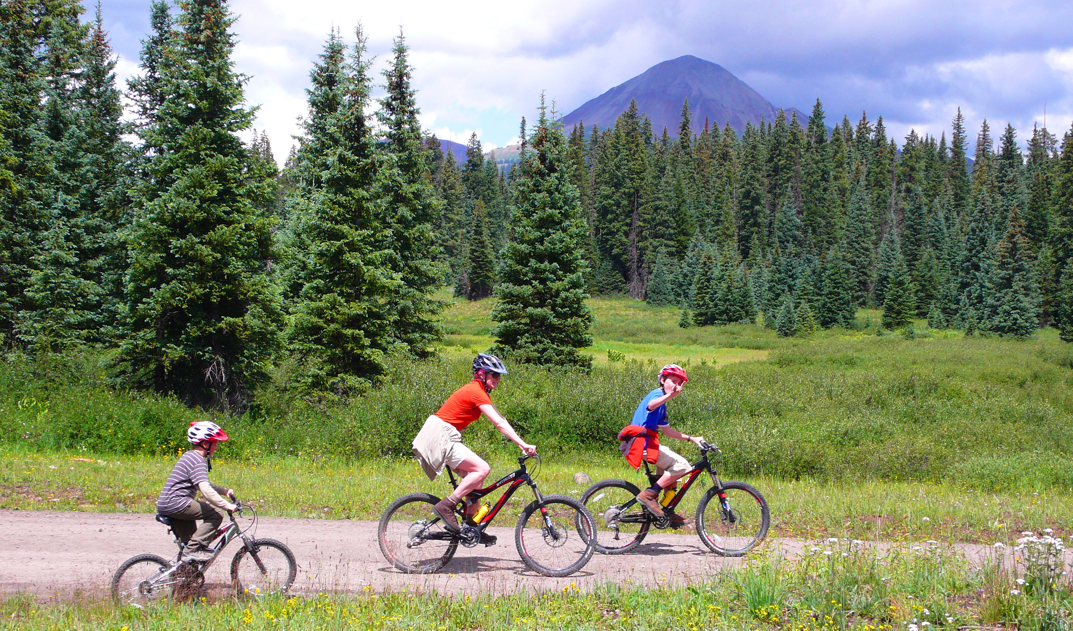 Mountain bike in the San Juan Mountains