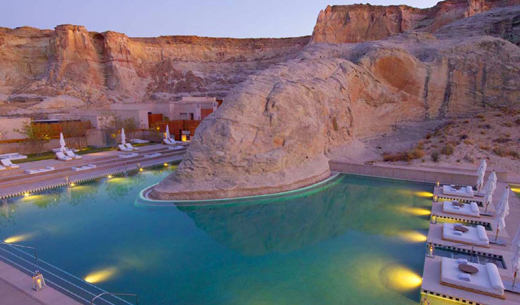 Take a dip in the pool at Amangiri