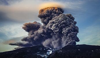 Volcano errupting in Iceland