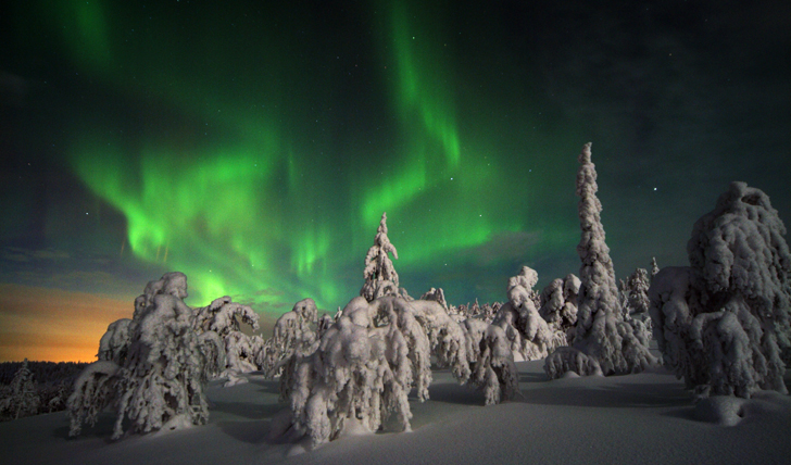 The Northern Lights in Finland