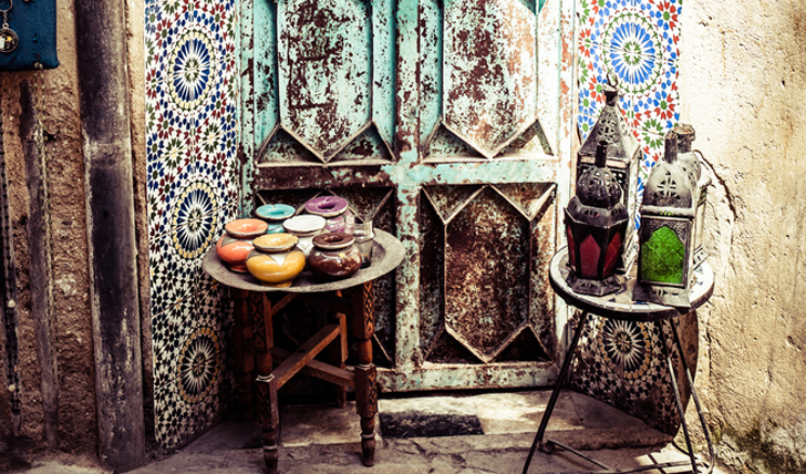 Decorated Streets of Marrakech | Black Tomato