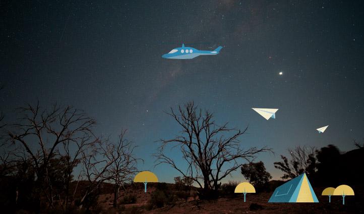 Starry skies in the NT, Australia