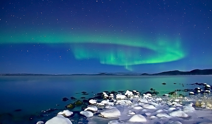 Witness a northern lights display