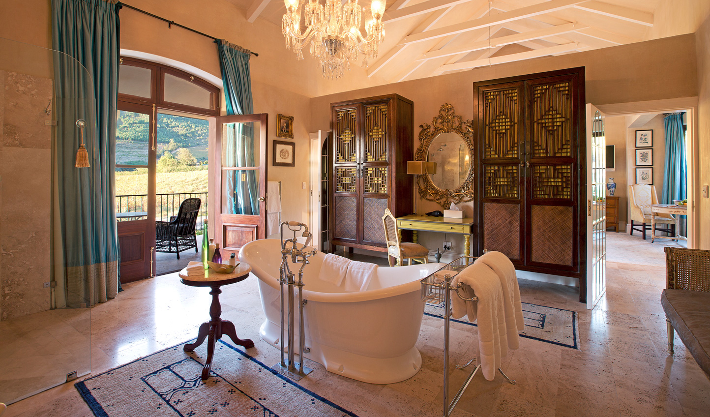 Opulent bathrooms with glorious views
