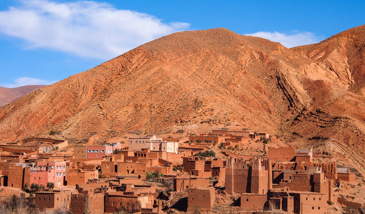dades-valley-wild-landscape-and-kasbah-village-in-Morocco_134669420