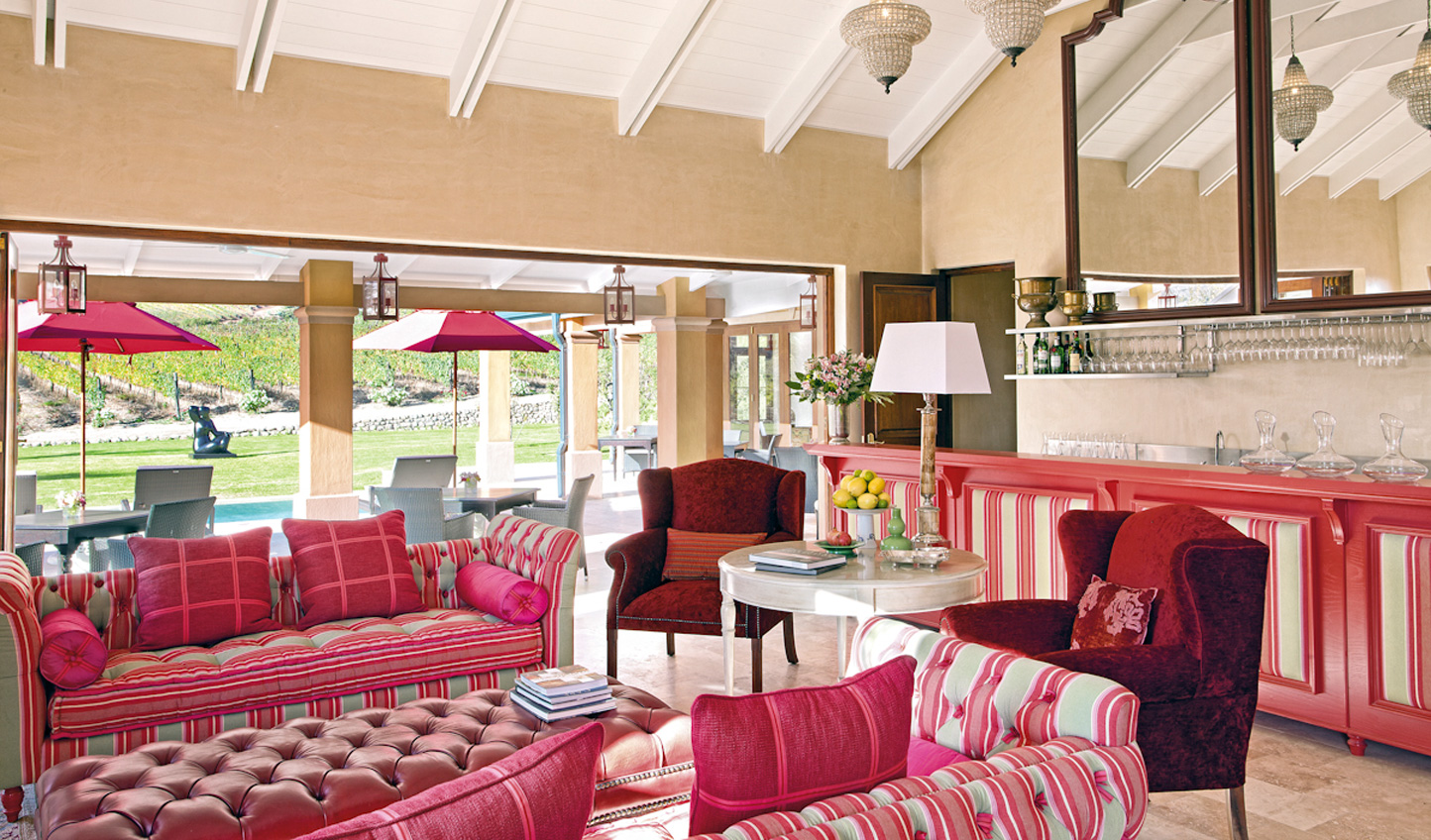 The plush lounge
