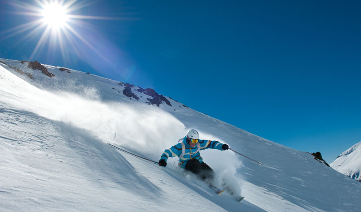 Skiing fresh powder in Argentina
