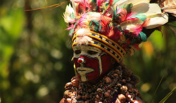 Tribal person in Papua New Guinea