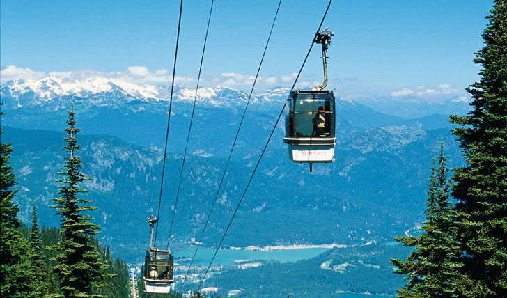 Cable-car at Whistler in Whistler, Canada