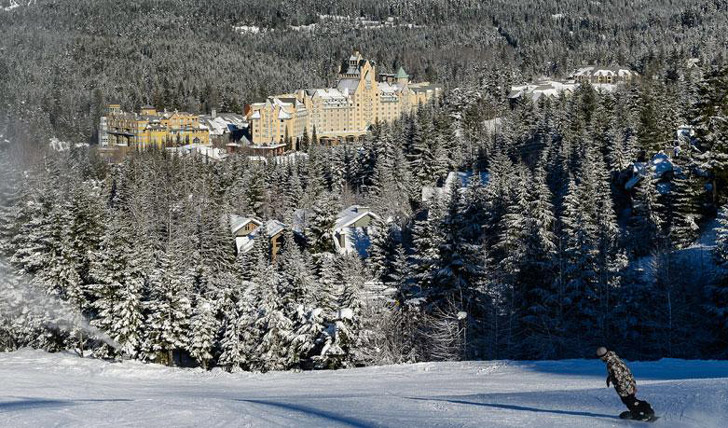 Luxury hotel the Fairmont Chateau, Whistler, Canada
