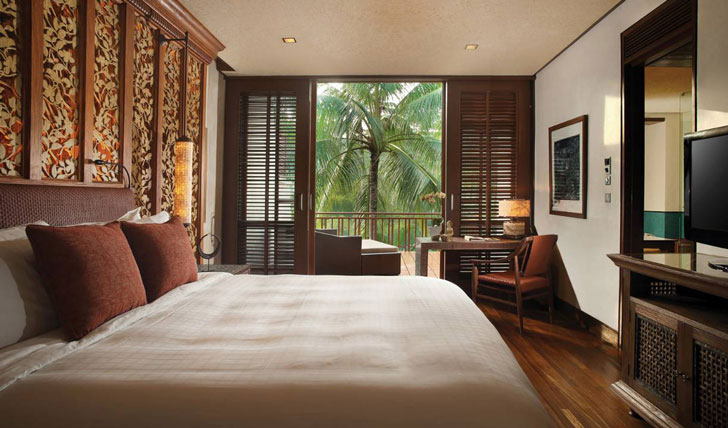 Luxury hotel suite at the Four Seasons Bali at Sayan, Ubud, Bali, Indonesia