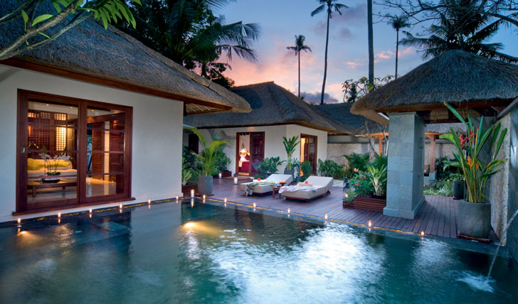 Luxury hotel villa pool at Jimbaran Puri, Bali, Indonesia