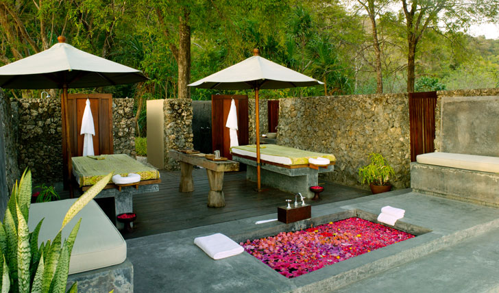 Be pampered at the Jungle Cove Spa