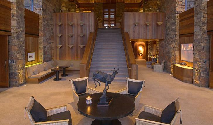 Luxury hotel Amangani in Jackson Hole, Wyoming, USA