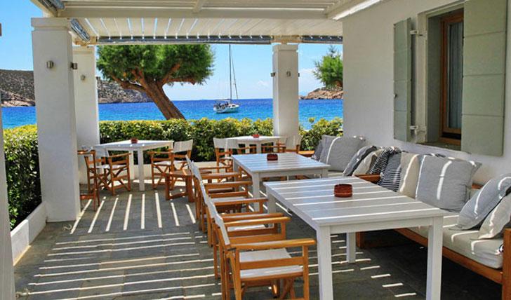 Luxury hotel dining at Elies Resort in Sifnos, Greece