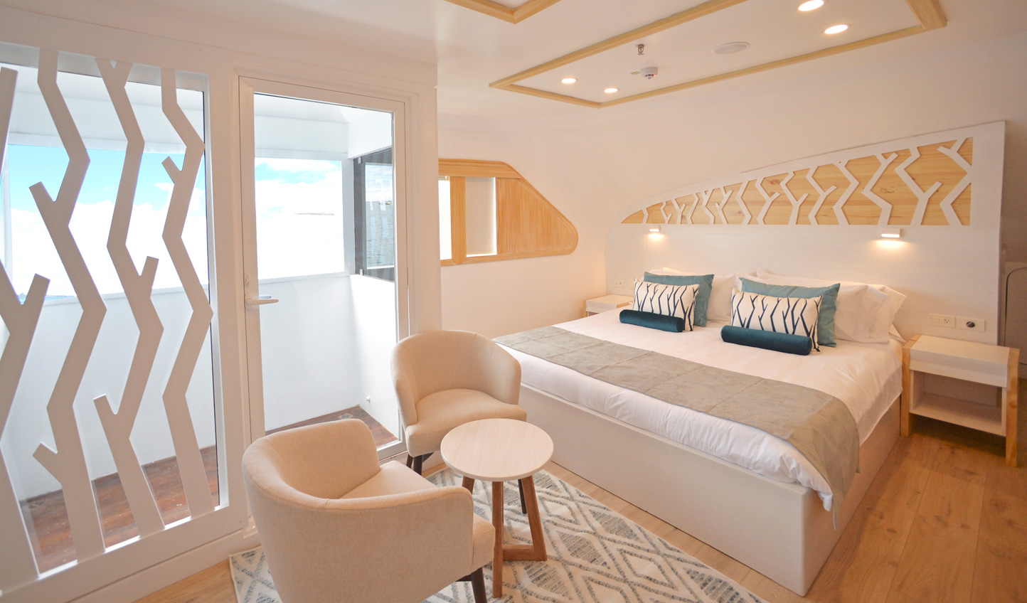 Bright and spacious cabin suites