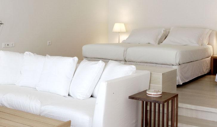 Luxury hotel suite at Elies Resort in Sifnos, Greece